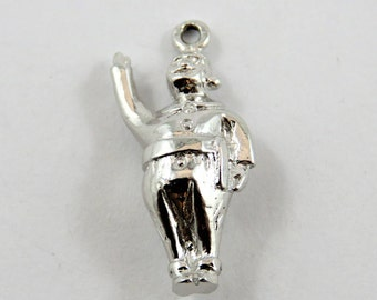Bonhomme Mascot for Quebec Winter Carnival Sterling Silver Charm of Pendant.