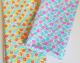 Colorful Hawaii Flowers Cotton Fabric