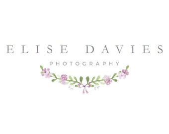 Premade Photography Logo, Floral Pre-made Logo, Photography Logos, Floral Logo for Photographers, Classic Logo Design Template
