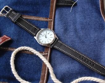 Dark Brown Leather Watch Strap 18mm Brown Leather Watch Strap 20mm Brown Leather Watch Strap 22mm Brown Leather Watch Strap 24mm