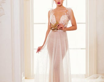 "New collection/ ""Eva"" gown /Romantic Bridal desses/ Tulle pearls/  Wedding gown/bridal gown"