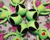 "Cosmo - 15"" Sock Alien Plush - Handmade Plush Doll"