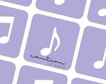 Music Notes Nail Vinyls - Nail Stencil for Nail Art