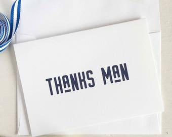 Thanks Man Card, Groomsman Gifts, Groomsmen Gift, Wedding Thank You Cards, Groomsman Gift Ideas, Wedding Party Gifts, Wedding Day Cards