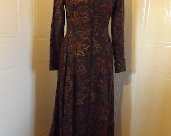80s does 70s vintage laura ashley dress autumn floral paisley shirt waister 8 10