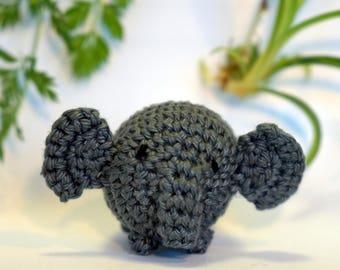 elephant plushie keychain - crochet amigurumi