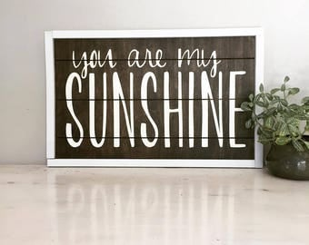 Wood Sign- You are my sunshine (CNC carved)