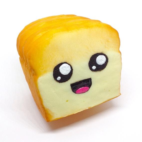 Squishy Eyeballs : Jumbo Slow Rise Bread Loaf Kawaii Face Squishy