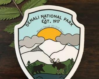 Denali National Park Vinyl Sticker