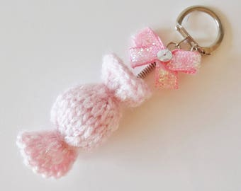 Candy pink - homemade key chain