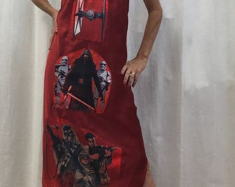 Star Wars Dress Star Wars Comic Con Cosplay Long Red Evening Backless Slip Dress Size XS to Bust 36 inches