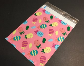 200 Designer 10x13 EASTER PINEAPPLE Poly Mailers Envelopes Shipping Bags Spring