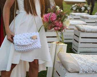 Junior Bridesmaid, Flower Girl, Will you be my, Crochet Patterns, Easy Crochet Pattern, Flower Girl bag, Flower Girl Purse