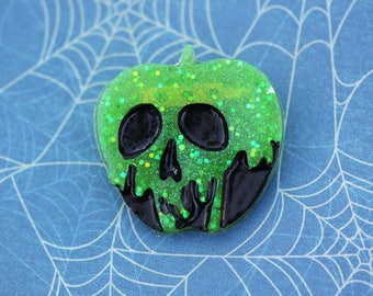 Halloween Poison Apple Brooch - Snow White Brooch - Free Shipping Disney Inspired Evil Queen Poison Apple Pin