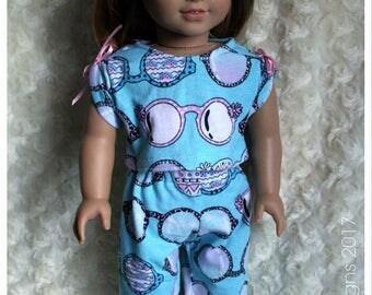 18 Inch Doll Clothing April Moon Sunglasses Summer Knit Pajamas