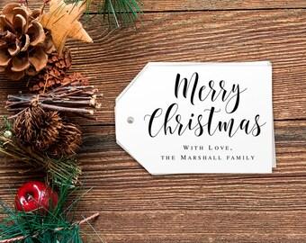 Merry Christmas tags printable Christmas gift tags template Rustic Christmas tags Gift tags personalized Christmas Gift tags editable pdf
