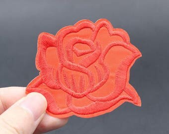 Flower Iron On Patch Embroidered patch 6x7.5cm - PH564