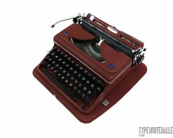 The BLOODY MARY Typewriter!!! TRIUMPH Norm 6 1949, Triumph typewriter, vintage typewriter, portable typewriter, working typewriter