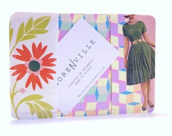 Recycled paper and laminated card holder