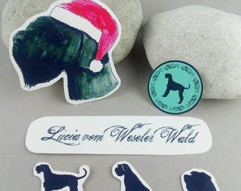 "Sticker set ""Giant Schnauzer personalized Christmas"""