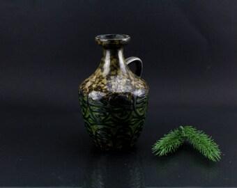 Fat Lava Flower vase Strehla ceramic vase NO. 1304 Handmade 60s Made in East Germany DDR Decoration High quality pattern