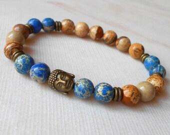 Buddha Bracelet Mala Beaded Bracelet Yoga Jewelry Meditation Bracelet Yoga Bracelet Tibetan Jewelry Energy Bracelet Mala Beaded Bracelet Men