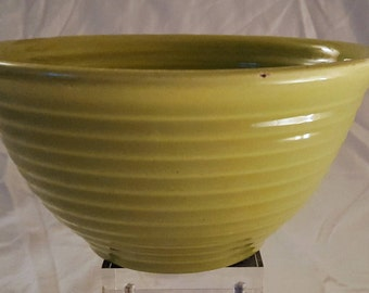 Vintage American Bauer Pottery Lime Green Ceramic Ringware Mixing Bowl