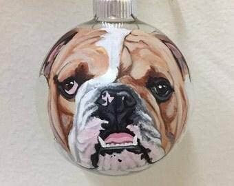 Custom English Bulldog Ornament