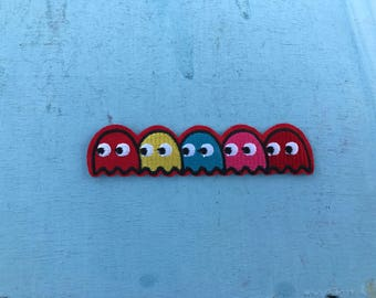 Atari PacMan Ghosts Videogame Video Game Iron-on
