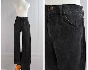 """Vintage Rustler Black Straight Leg Jeans   Size: 31""""waist x 33.5""""inseam"""