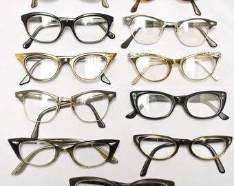 SET of 11 Vintage CAT EYE Eyeglasses (lot 131)