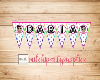 Personalized LOL Surprise Dolls Birthday Party Banner, series 2 and little sisters! DIGITAL file only!
