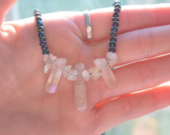 Clear Quartz Beaded Necklace