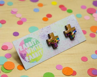 Addition Prismatic Stud Earrings