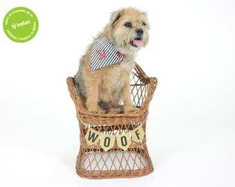 Anchor Sailor Style Dog Bandana Woofachief Handmade By Ty Hafan Nautical Doggy Neck Tie Handkerchief Hand Made Upcycled Collar Pet Clothing