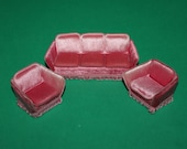 Vintage Dolls House Lundby Lounge Suite Sofa And Chairs