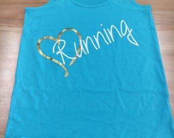 Love Running - Womens Racerback Tank
