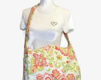 Diaper Bag- Large Diaper Bag - Messenger Diaper Bag -Handmade Diaper Bag - Ready to Ship Bag - New Mom Gift- Baby Shower Gift