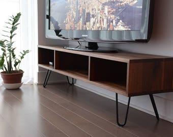 Walnut mid century/modern console