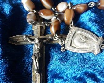 long glass bead rosary