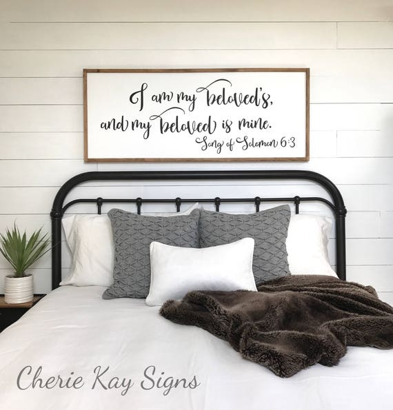 Like this item. master bedroom sign I am my beloveds bedroom wall decor