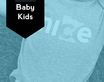 Baby + Kids Set, FREE SHIPPING - Nice Minnesota Shirt, State Shirt, Minnesota Shirt, Minnesota T-shirt, Kids shirt
