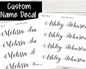 Custom Name Sticker | Rectangle Outline | Planner Stickers