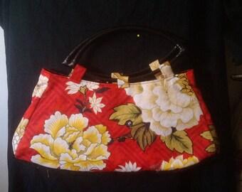 Red Spring Chrysanthumn handbag