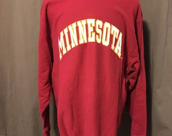 Vintage University of Minnesota Sweatshirt, Size:  XLarge