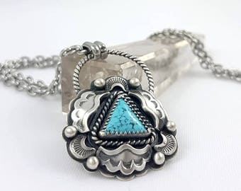 LaoOne * sterling silver necklace * statement turquoise