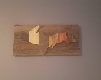 Upper Peninsula of Michigan barnwood pallet wood rustic sign wall hanging