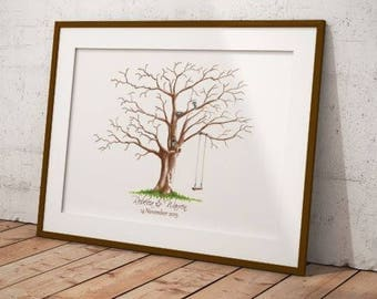 Wedding Guestbook fingerprint tree, Custom  Wedding guestbook, Fingerprint tree, Wedding keepsake