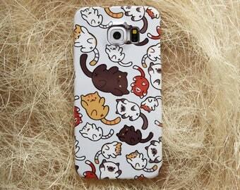 Cats iPhone Case iPhone 6S Plus Case Marble iPhone 7 Plus Case Marble iPhone 7 case Neko iPhone 4 Case Note 5 Case Cute Neko Atsume