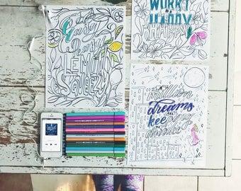 Coloring Sheets - Digital Download
